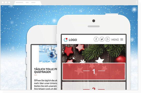 Adventskalender mobile + für Smartphones, Tablets und Desktop