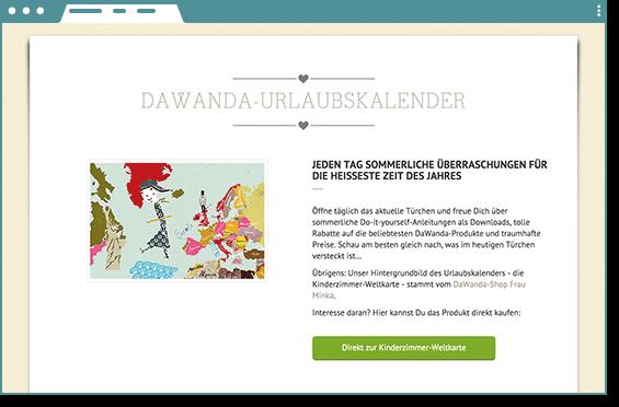 DAWANDA ADVENTSKALENDER GEWINNSPIEL