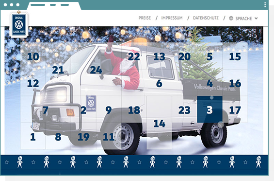 Volkswagen Classic Parts Adventskalender